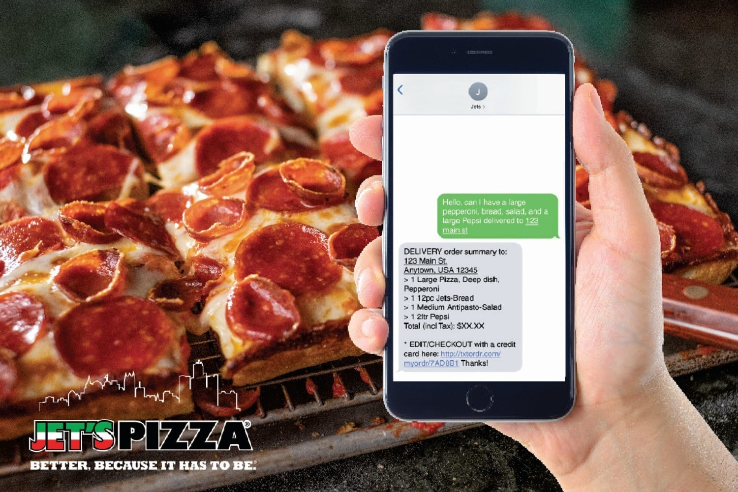 Jet's Pizza Introduces New Text-to-Order Technology